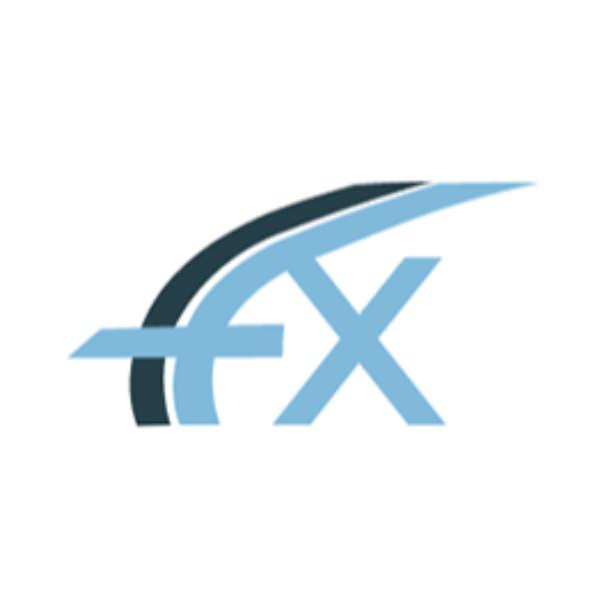 FXFlat als Logo blau hellblau